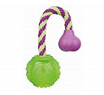 Trixie Ball on a Rope Dog Toy - Green