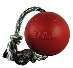 Jolly Pets Romp-n-Roll Ball Dog Toy Red - 20.3 cm