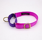 Forfurs Duo Martingale Collar Hot Pink & Ultra Violet - Medium
