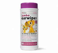 Petkin Jumbo Earwipes  For Dog & Cat - 80 pieces