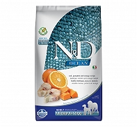 Farmina N&D Dry Dog Food Grain Free Ocean Pumpkin COD Fish & Orange Adult Medium & Maxi - 2.5 Kg (Pack Of 4)