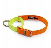 Forfurs Duo Martingale Collar Neon Orange & Lime Green - Large