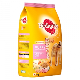 Pedigree Dog Food Puppy Chicken & Milk - 3 Kg