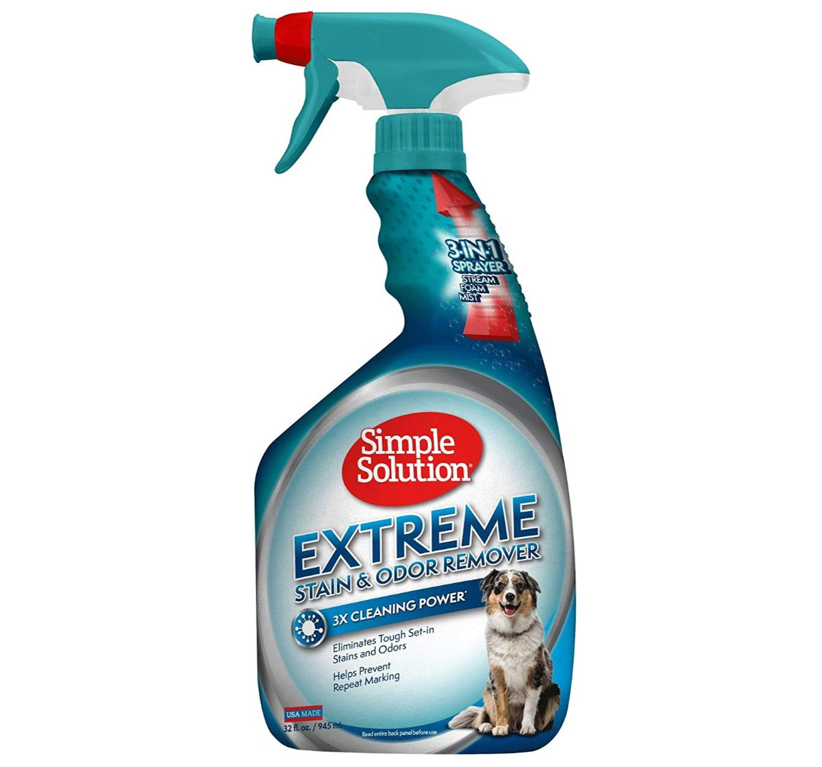 Simple Solution Extreme Dog Stain Odor Remover Spray - 945 ml